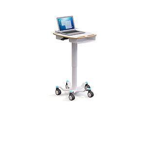 Ward trolleys and side tables with SUSPA lifting columns