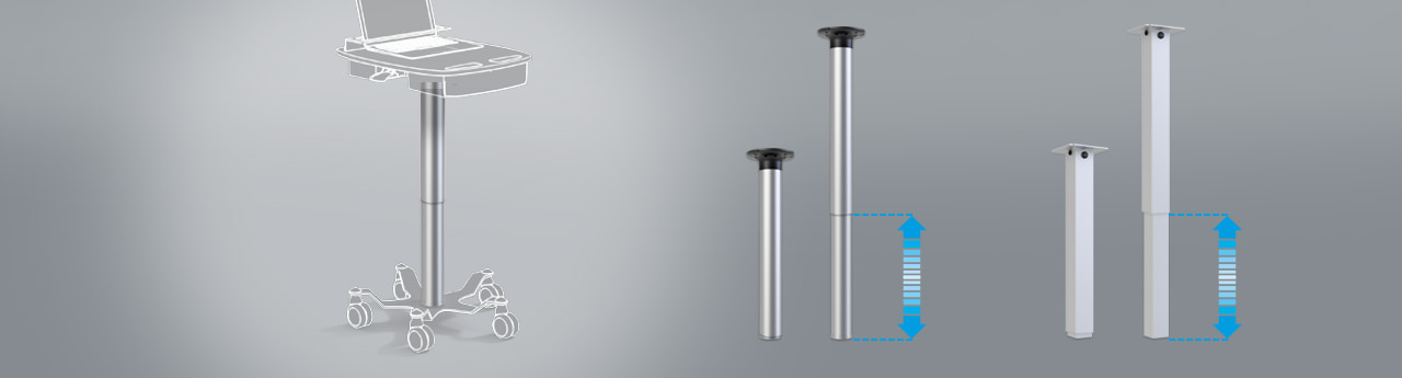 product picture: 1-leg adjustable table column
