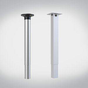 Pneumatic 1-leg-table columns